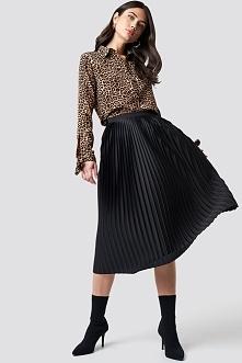 NA-KD Trend Plisowana spódnica midi - Black