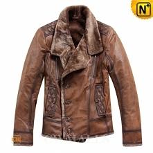 Men Leather Jacket | CWMALLS® Ottawa Shearling Lined Biker Jacket CW819056 [Christmas Gifts]