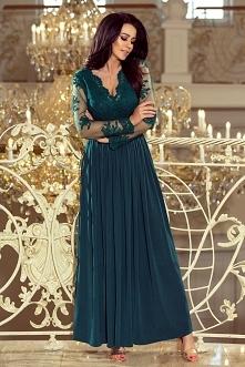 Maxi długa zielona sukienka...