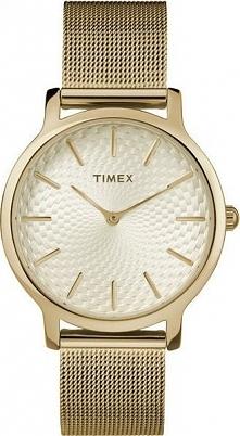 Zegarek Timex TW2R36100 Metropolitan Gold damski