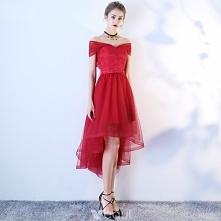 Piękne Burgund Sukienki Kok...