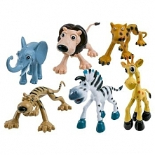 Zwierzęta gumowe Zoo Dżungla - Słoń, Tygrys
