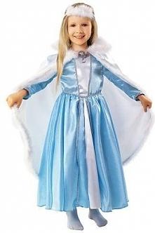 Strój Zima, Królowa Śniegu - przebrania / kostiumy dla dzieci, odgrywanie ról