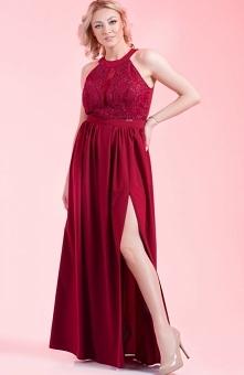 Antall Anes sukienka bordow...