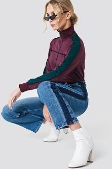 NA-KD Trend Jeansy z szerokimi nogawkami - Blue