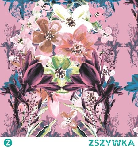 Materiał lub tapeta drukowane na zamówienie - wzór: Kwiatowy bukiet w kolorach pastelowych - ku-ka.pl