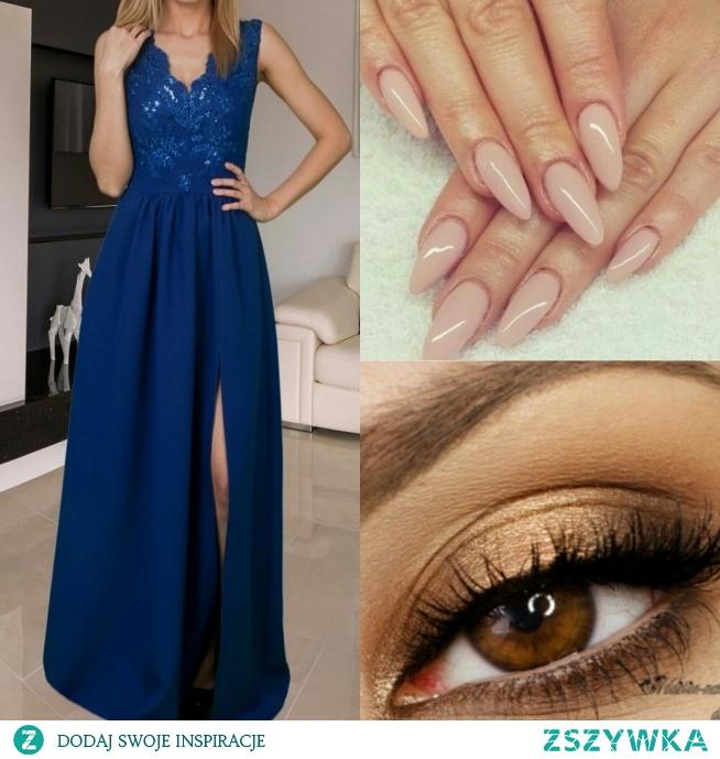 Czy takie paznokcie pasują do sukienki? I jakie polecacie usta (dodam, że ma rude włosy)