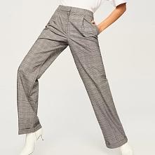 Spodnie w kratę - Wielobarwn