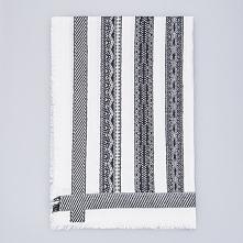 Wzorzysty szalik - Biały