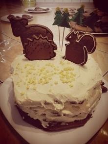 Tort piernikowy - Zimowy la...