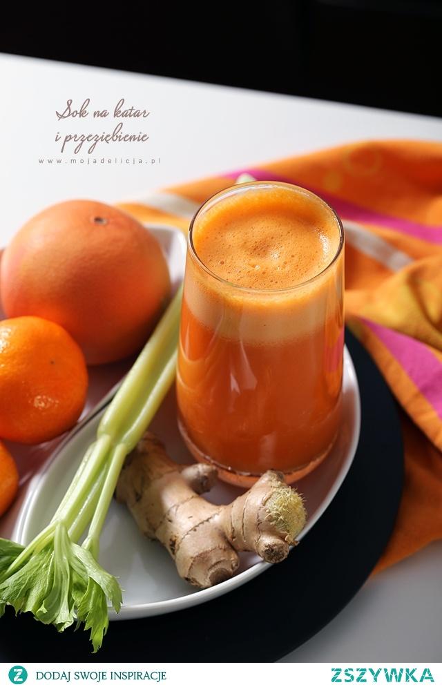 Sok jabłek pomarańczy marchewki selera imbiru na katar przeziębienie