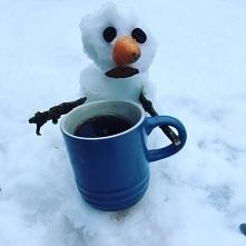 Jest zimno ale kawa ciepła ...