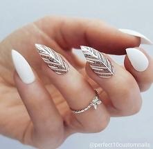 silver white nails