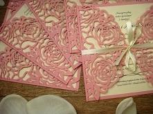 różowe, laserowo wycinane z...