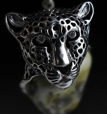 wisior, srebrny gepard z bu...
