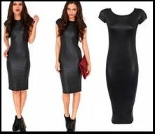 Obcisła czarna sukienka - c...