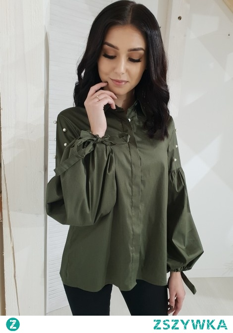 Koszula GAYA perełki khaki. Ottanta - sklep online