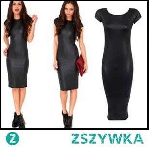 Obcisła czarna sukienka - cudo! Kliknij w zdjęcie i zobacz gdzie ją kupić!