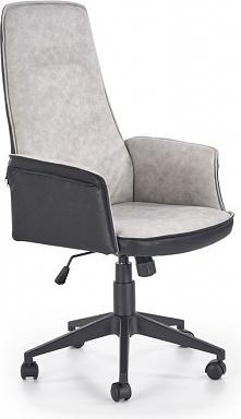 TUCSON fotel gabinetowy czarno-popielaty
