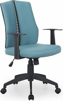 IRON fotel pracowniczy czarno - turkusowy