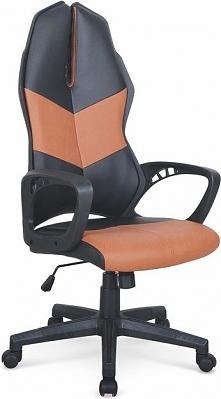 COUGAR 3 fotel gabinetowy czarny / brązowy