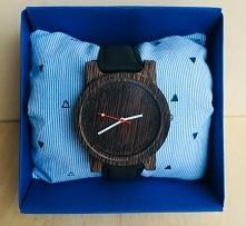 Piękny,niepowtarzalny drewniany zegarek już od 130zł! To świetny pomysł na pr...