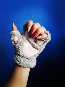 Kocie rękawiczki bez palców