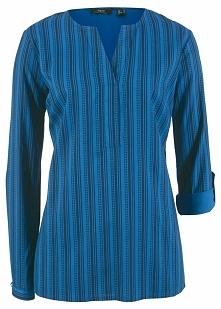 Tunika bluzkowa bonprix ciemnoniebiesko-lazurowy w paski