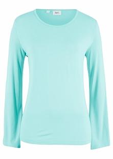 Shirt z rozkloszowanymi rękawami bonprix morski pastelowy