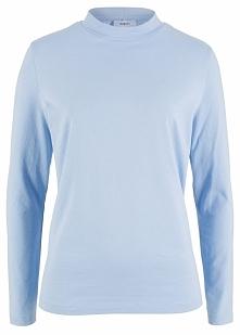 Shirt ze stójką bonprix perłowy niebieski