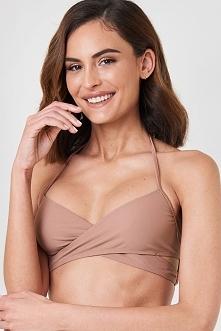 NA-KD Swimwear Góra od bikini cross front - Pink,Nude