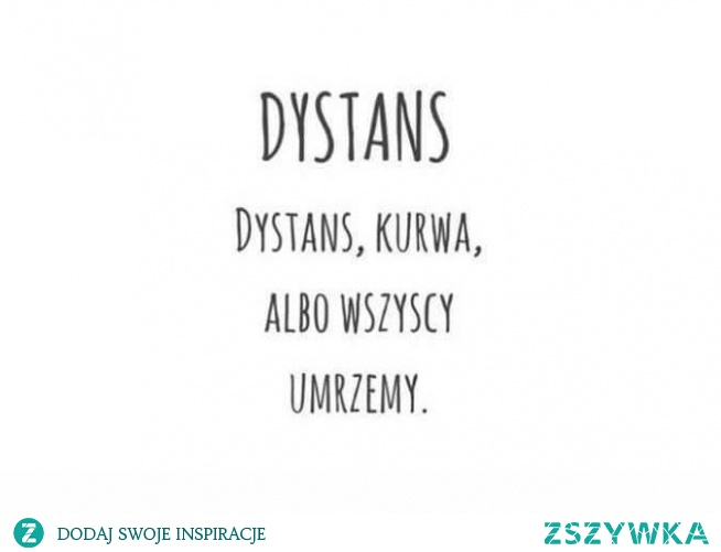 dystans...