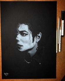 Portret Michaela Jacksona w...