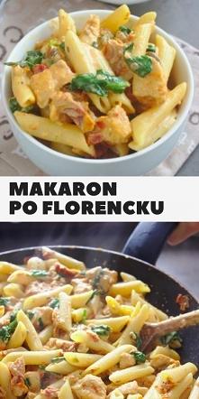 Makaron po florencku z kurczakiem i suszonymi pomidorami