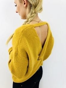 Sweter Odkryte Plecy Musztardowy kupisz po kliknięciu w zdjecie :)