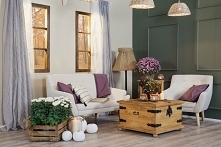 sofa i fotel drewniana skrz...