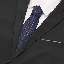Krawat - Granatowy