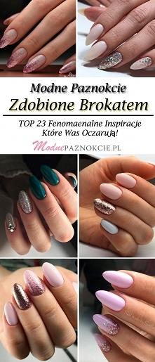 Modne Paznokcie Zdobione Brokatem: TOP 23 Fenomenalne Inspiracje Które Was Oc...