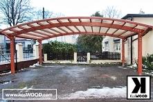 Wiata garażowa wolnostojąca, dwustanowiskowe wykonana z wytrzymałego drewna k...