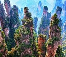 Góry Tianzi w Chiny, piękny krajobraz <3 Żeby ułożyć puzzle, klikajcie w o...