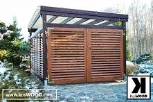 Wiata garażowa wolnostojąca, wykonana z wytrzymałego drewna klejonego odporne...