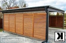 Wiata garażowa wolnostojąca wielostanowiskowa, wykonana z wytrzymałego drewna...