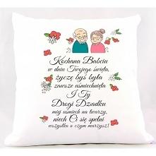 Poduszka dla babci i dziadka, do zamówienia w naszym sklepie. Zapraszamy!