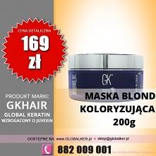Global Keratin maska koloryzująca czerwień 200g GK Hair Ultra Blonde bombshell masque - sklep warszawa walendów nadarzyn  cena 169zł (darmowa wysyłka UPS)  Maska Gkhair Ultra Bl...