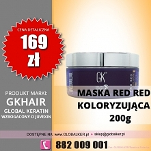 Global Keratin maska koloryzująca Red Red 200g GK Hair bombshell masque - skl...