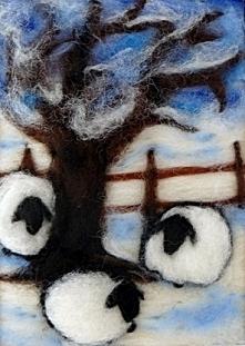"""Zimowy krajobraz. Obraz z kolekcji """"Winter"""""""