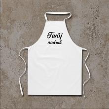 Biały fartuszek kuchenny z Twoim nadrukiem
