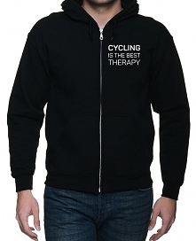 Bluza z kapturem. Cycling is the best therapy