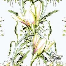 Materiał drukowany na zamówienie - Ornament kwiatowy - seria 3 - WzoryOzdobne...