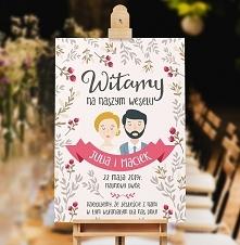 Plakat/ Obraz powitalny gości weselnych - Piękny